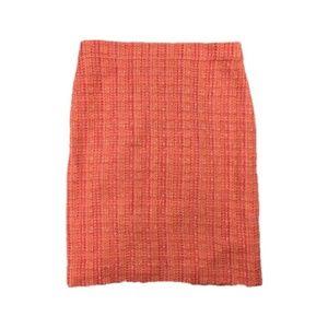 J Crew Sz 0 No 2 Pencil skirt pink neon tweed
